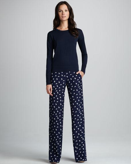 Mitrana Printed Silk Trousers