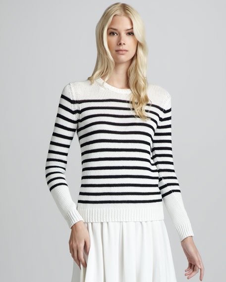 Saida Striped Cotton Sweater