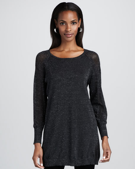Shimmering Wool Tunic