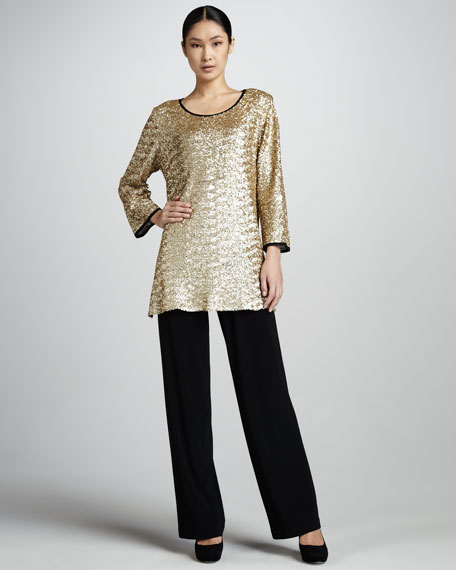 Sequined Mesh Tunic, Women's