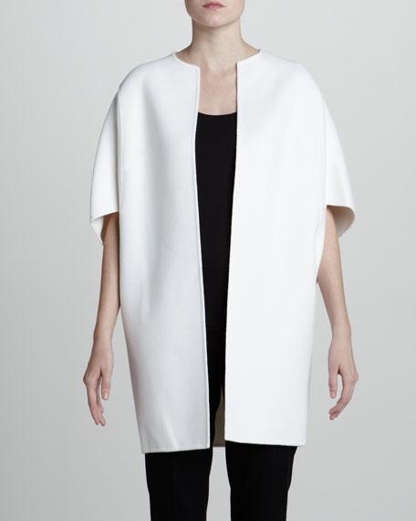 Wool-Blend Kimono Coat