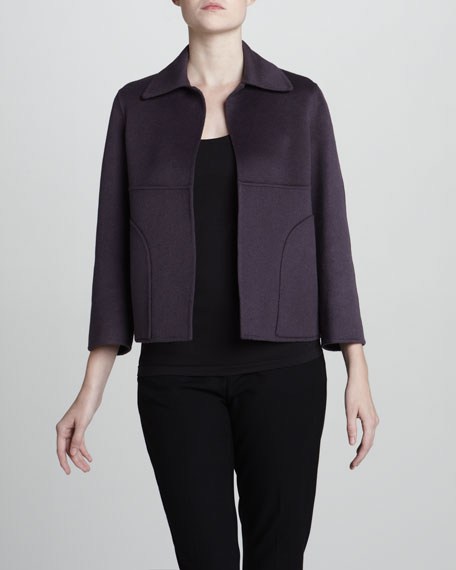 Wool-Blend Cardigan Jacket
