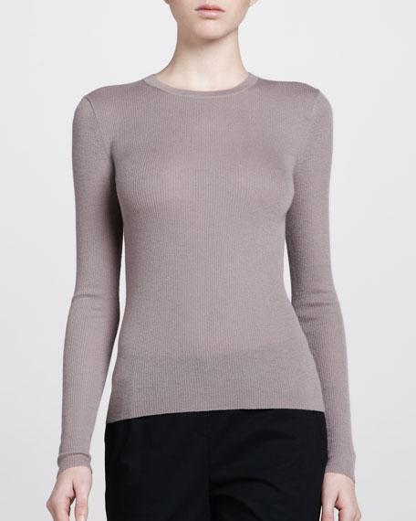 Cashmere Crewneck Sweater, Dusk