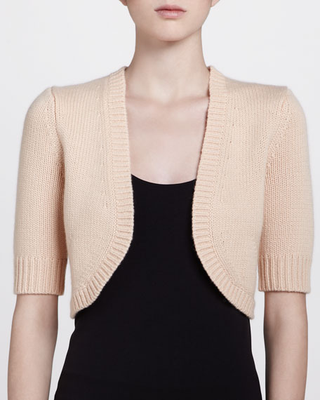 Half-Sleeve Shrug, Nude
