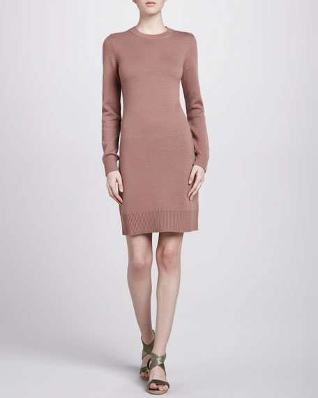 Crewneck Cashmere Dress, Blush