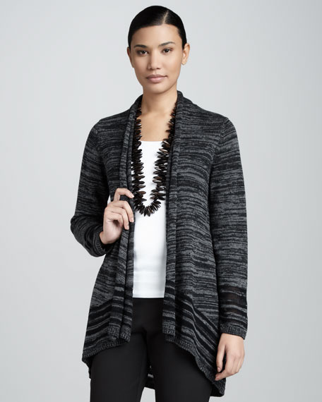 Organic Sheer Striped Cardigan