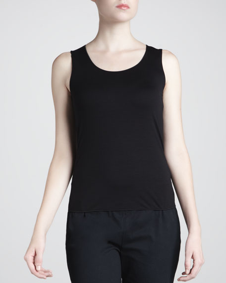 Scoop-Neck Tank, Black