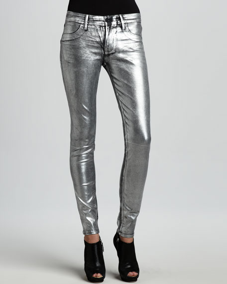 Coe Metallic Silver Dreams Leggings
