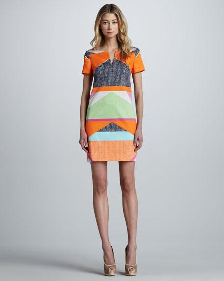 Museum Geometric-Print Dress