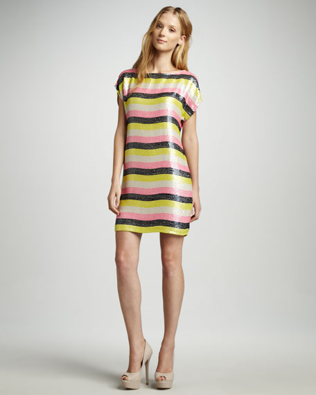 Breene Striped Sequined Dress