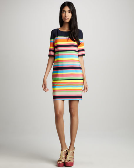 Flagimi Multi-Stripe Dress
