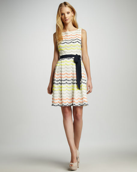 Heights Scalloped Fringe Dress