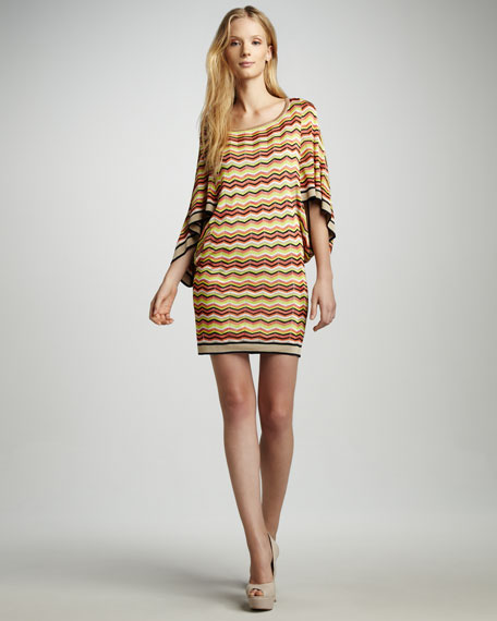 Casablanca Zigzag Sweaterdress
