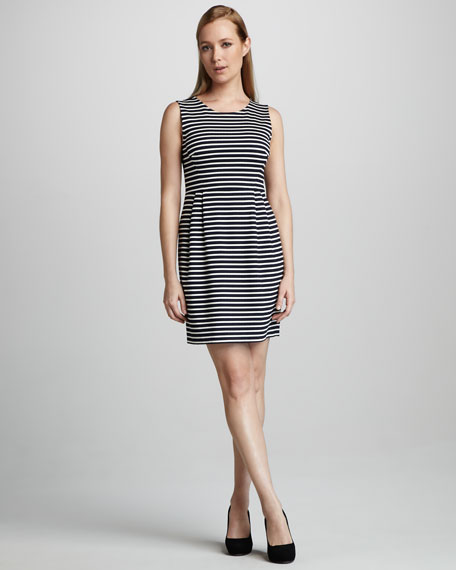 kellie striped sleeveless dress