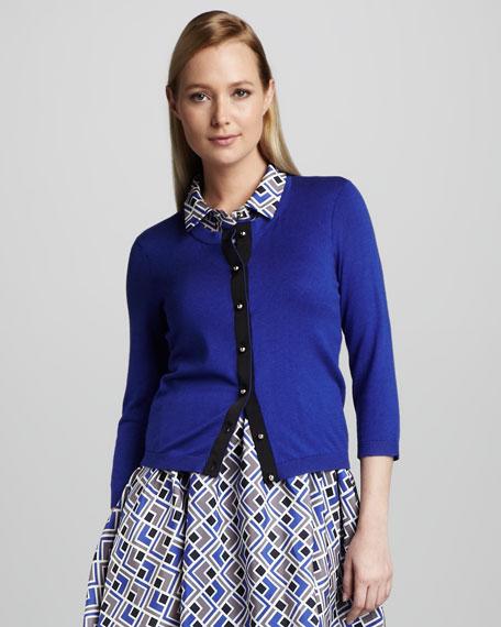 jeremy colorblock cardigan, blue