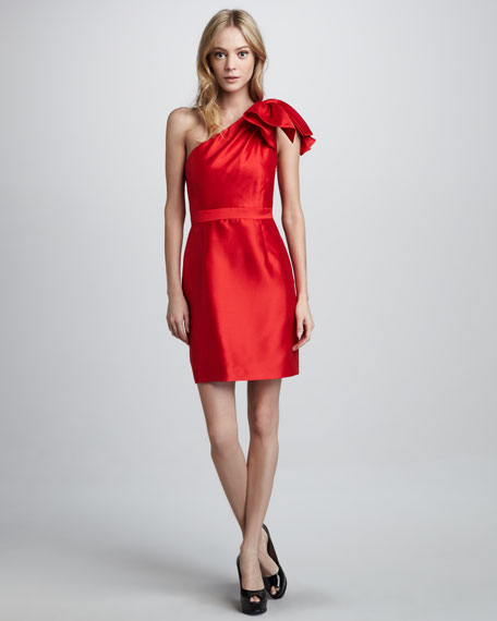 Amber Ruffled One-Shoulder Dress