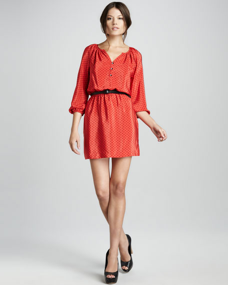Renee Belted Blouson Dress