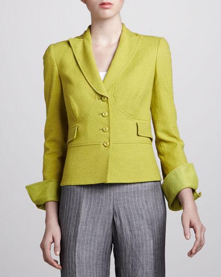 Jacquard Jacket, Green