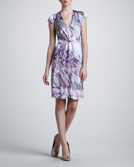 Brushstroke-Print Dress
