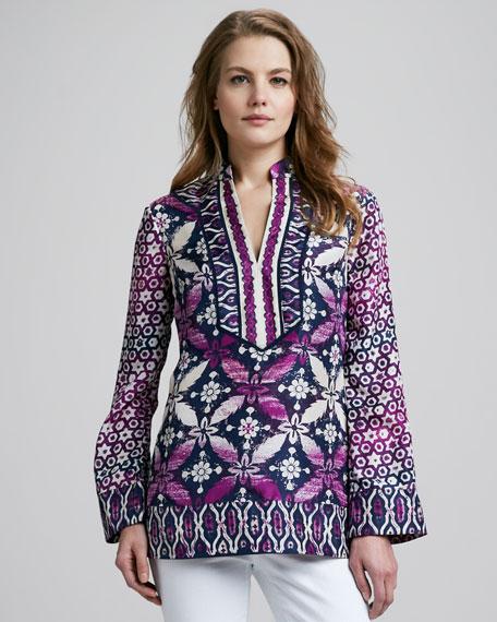 Darla Printed Silk Tunic