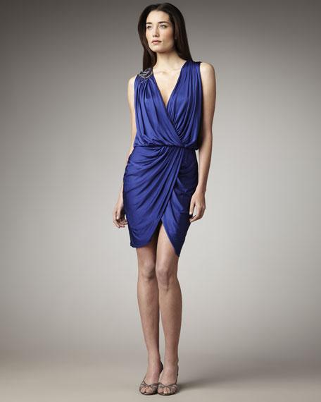 Ruched Blouson Dress
