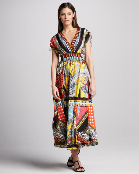 Patchwork Paisley-Print Dress