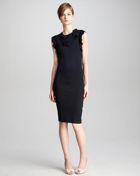 Bow-Detail Jersey Dress