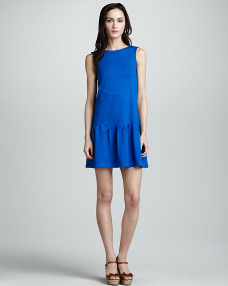 Wave-Stitch Ponte Shift Dress