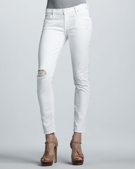The Slim Cigarette Distressed Jeans