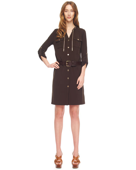 Chain-Lace Shirtdress, Women's