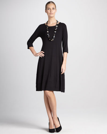 Scoop-Neck Jersey Dress, Petite