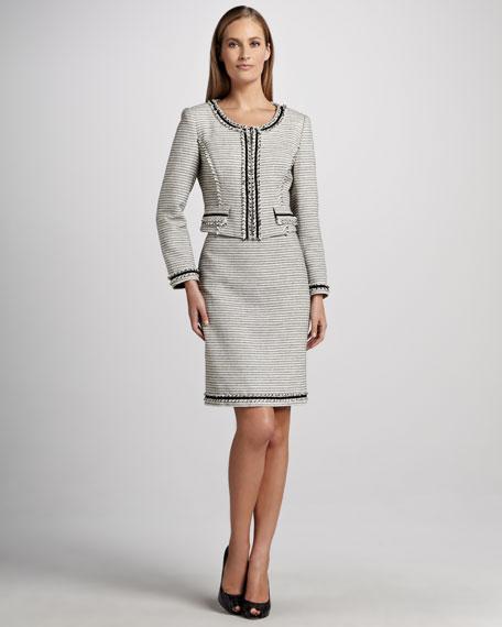 Textured-Stripe Suit