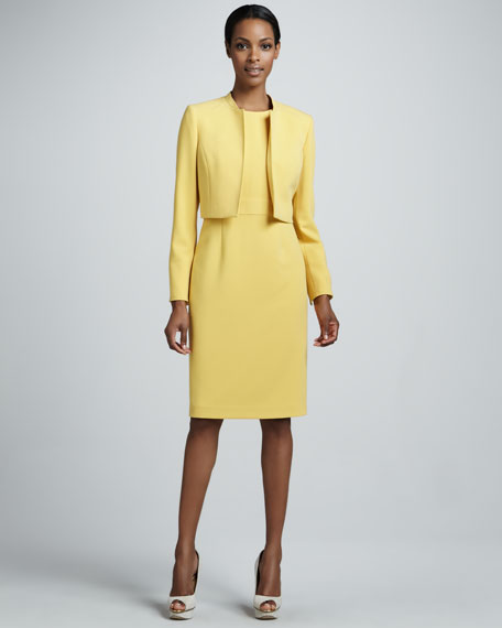 Cropped Suit Jacket & Dress