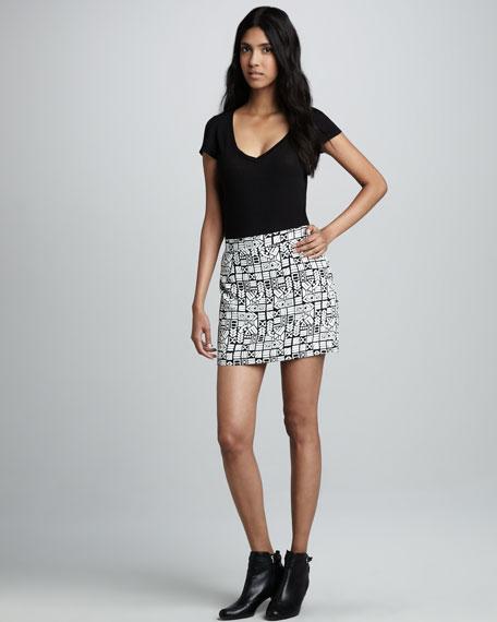 Pozzie Printed Miniskirt