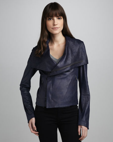 Queensway Faux-Leather Jacket