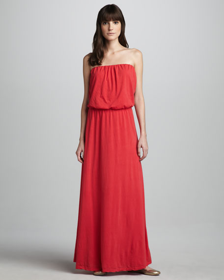 Portola Blouson-Top Maxi Dress