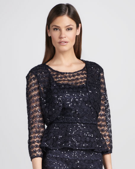 Sequined Lace Bolero