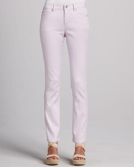 Saddie-Straight Jeans, Pastels