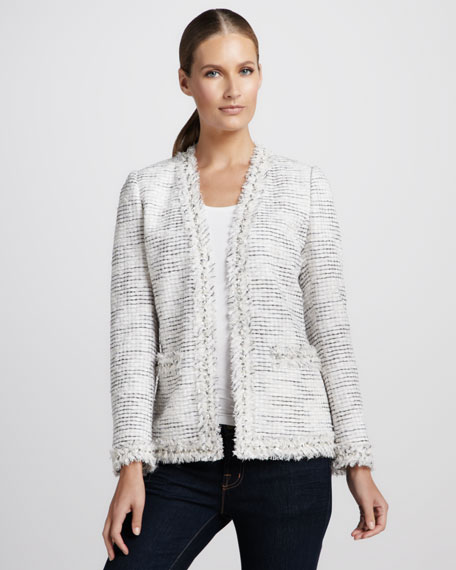 Bling-Detailed Tweed Jacket