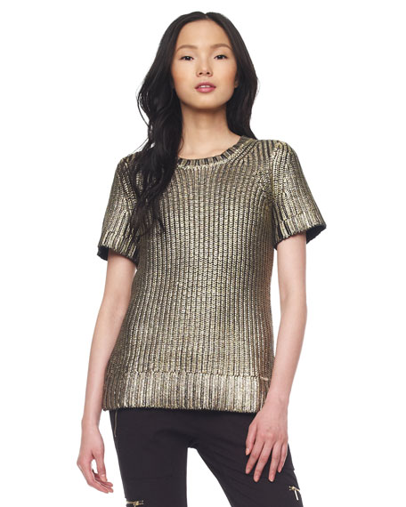 Foiled Knit Sweater