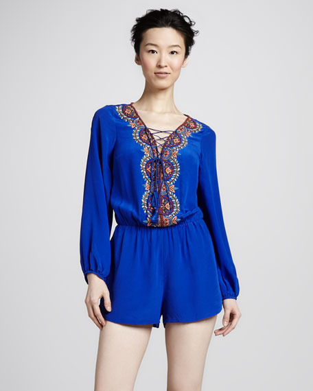 Renzo and Kai Beaded Short Jumpsuit