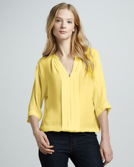 Marru Silk Blouse, Lemon