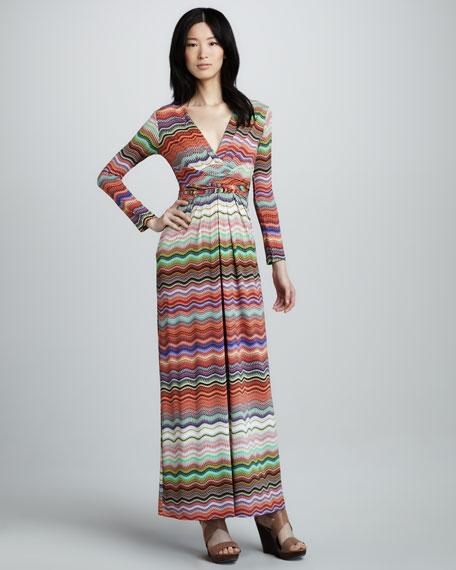 Zigzag-Stripe Maxi Dress