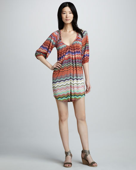 Zigzag-Stripe Minidress