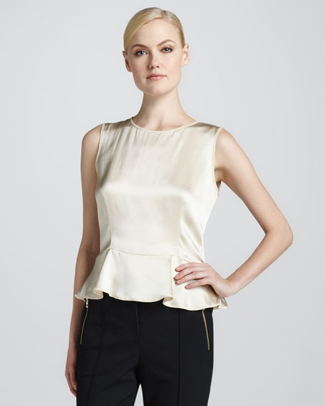 Silk Peplum Blouse