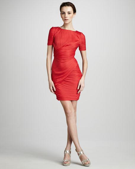 Cross-Ruch Dress