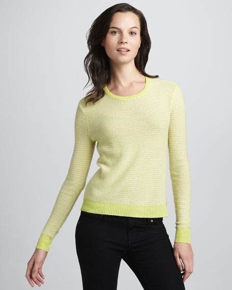 Neon Striped Cashmere Sweater