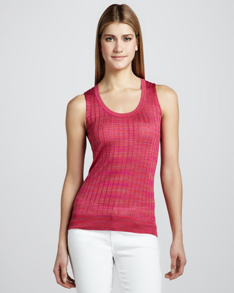 Space-Dye Ribbed Tank