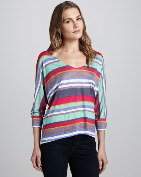 Pensacola Striped Slub Top