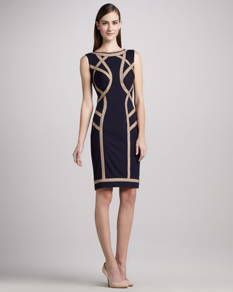 Bandage-Seam Cocktail Dress